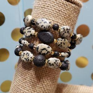 Cheetah Anyone? Aromatherapy Bracelet Set